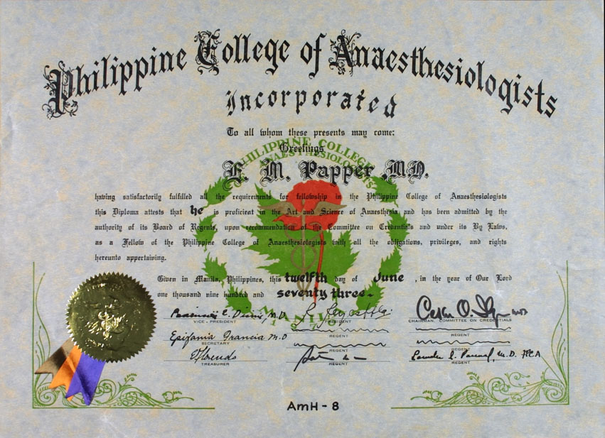 Emanuel M Papper Md Phd Honors Awards